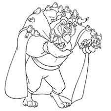 10 free printable beauty beast coloring pages