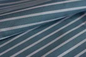 Blue And White Striped Upholstery Fabric Sunbrella Riviera Paon White Stripe 3948 137 The In And Out