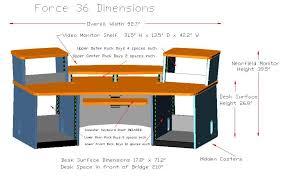 Omnirax Presto 4 Studio Desk Omnirax Force 24 Studio Desk 8322