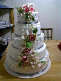 wedding cake bandung murah bakerinacake 5 tier dummy wedding cake for rent only rm100 day