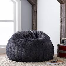 baloo faux fur beanbag pbteen