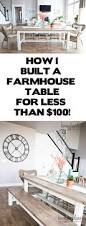 Diy Farmhouse Table And Bench Diy Farmhouse Table And Bench White Banister Farmhouse Table