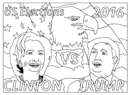 free coloring page coloring us presidential elections 2016