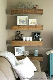 shelf decorations living room creative wall shelf ideas for living room make room more unique