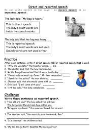 all worksheets direct speech to indirect speech worksheets