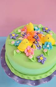 peeps decorations easy peeps easter cake cakewalker