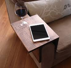 simply awesome couch sofa arm rest wrap tray table for tablet