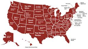 Dc State Map by Your State U0027s Favorite Food Cooking Show Map Cabletv Com
