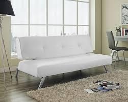 Sofas Center  White Leather Futonfa Palermo Serta Euro Lounger - Leather sofa portland 2