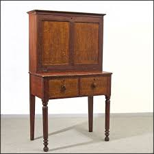 early 19th c grain painted step back drop front desk or secretary
