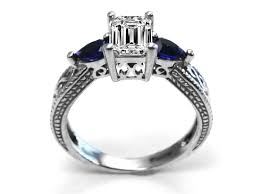 filigree engagement rings blue sapphire engagement rings from mdc diamonds nyc