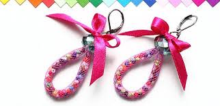 funky earrings how to make funky garland loop earrings candy colored loop