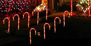 how many feet of christmas lights for 7 foot tree amazon com cane candy lights outdoor christmas yard lawn pathway