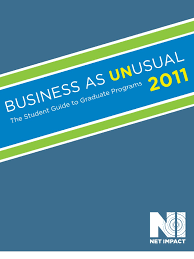 net impact business as unusual 2011 american university master