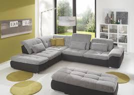 Wohnzimmer Hocker Wohnlandschaft Mit Hocker Weiss Grau Woody 80 00016 Wohnzimmer
