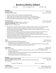 health wellness and fitness resume