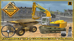 heavy excavator crane 3d gameplay android youtube
