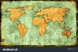World Map Artwork by World Mapvintage Artwork Stock Illustration 11197042 Shutterstock