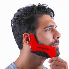shape beard styling template