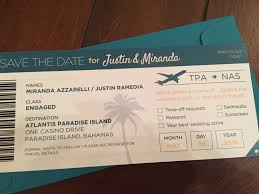 Creative Save The Dates Destination Wedding Save The Date Idea Boarding Pass Creative