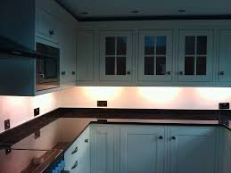 Fibreglass Cabinets Led Kitchen Lighting Under Cabinet Having White Finish Varnished