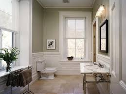 bathroom trim ideas neutral wall color with white trim line for small bathroom ideas