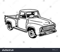 Vintage Ford Truck Art - pickup truck 2 retro ad art stock vector 72178585 shutterstock
