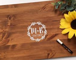 wedding signing board guest book board etsy