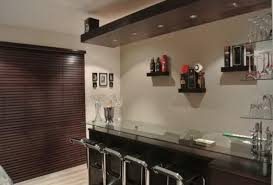 bar beautiful black white wood glass modern design home bar