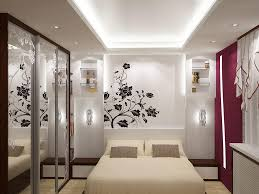 Bedroom Wall Of Curtains Lovely Cool Wall Paintings Ideas And White Curtains With Simple