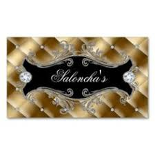 Crown Business Cards Name Tag Button Gold Party Turquoise Crown Salon Business Cards