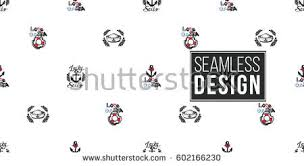 beautiful vector ocean fashion sketch hand stock vector 602166110