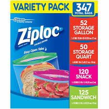 ziploc storage bags various sizes 347 ct 1 pack healthy