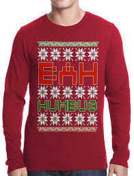 ugly christmas sweater bah humbug thermal shirt