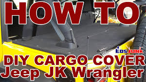 jeep bed in back diy rear cargo cover for jeep wrangler jk youtube