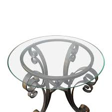 rooms to go coffee tables and end tables 90 off rooms to go rooms to go glass top side table with bronze