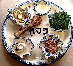 seder meal plate passover from russia with sunée
