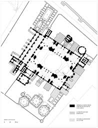 floor plan of hagia sophia archnet