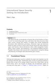 international space security setting an introduction springer