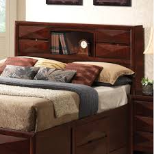 queen size bed with bookcase headboard designing home 13791