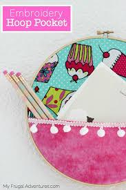 simple embroidery hoop pocket my frugal adventures