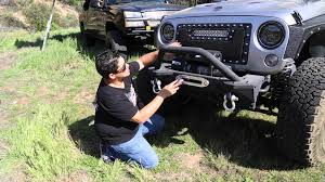 jeep yj rock crawler tuff stuff modular rock crawler winch mount front bumper 07 14