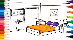 Bedrooms For Kids by How To Draw Bedroom For Kids K Art Colorful Kids Coloring