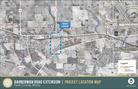 Illinois Road Construction Map by Kdot Construction Project Dauberman Road Extension