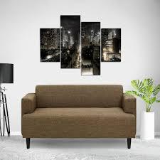 Modern Fabric Sofa Designs by Furinno Simply Home Modern Brown Fabric Sofa Sf808br The Home Depot