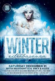 party flyer free winter flyer template winter wonderland party event flyer