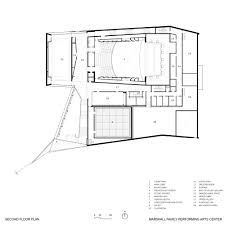 Dance Studio Floor Plans Gallery Of The Marshall Family Performing Arts Center Weiss
