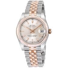 Rose 31 Rolex Datejust 31 Silver Dial Steel 18 Everose Gold Jubilee