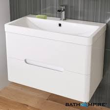 double sink wall hung vanity unit 800mm tuscany gloss white double drawer basin unit wall hung