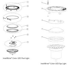 pentair pool light parts pentair intellibrite 5g color led lights 2nd generation after 2009